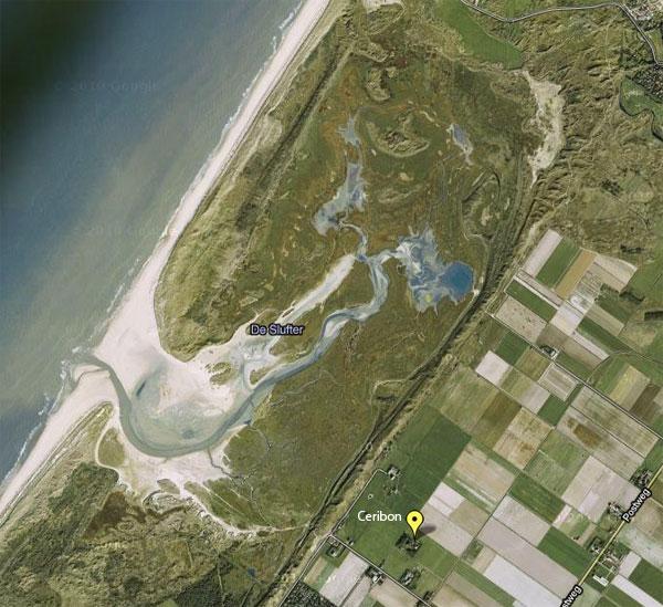 luchtfoto Ceribon, nabij Slufter